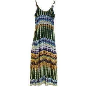 Charlie jade multicolored maxi dress size small